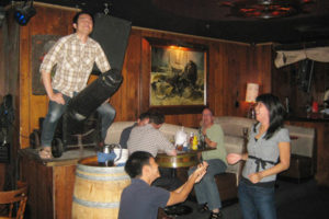Hysterical photos are often generated by teams in our bar-hopping challenge course