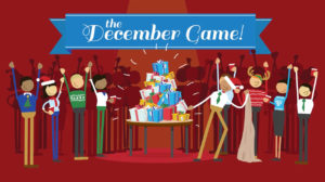 The December Game is our holiday-themed party game that puts Secret Santa to shame