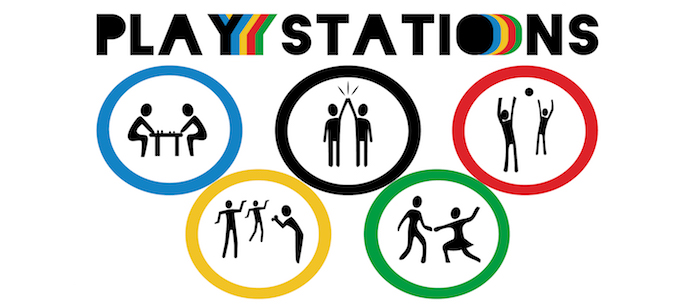 Play Stations is a team building program that can be played indoors or out.