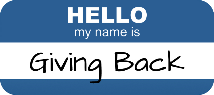 Hello My Name Is Giving Back