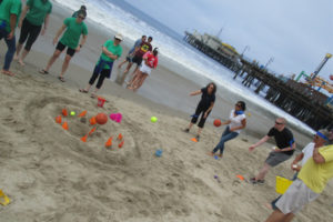 Corporate team building program at the beach