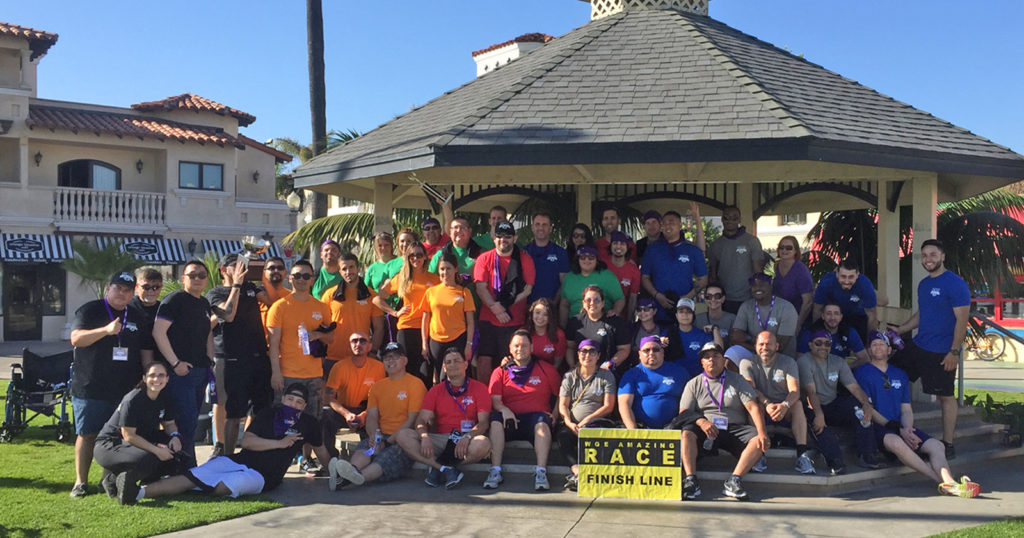 Corporate team building events don't have to be boring. This group just completed an exhilarating challenge course in Newport Beach.