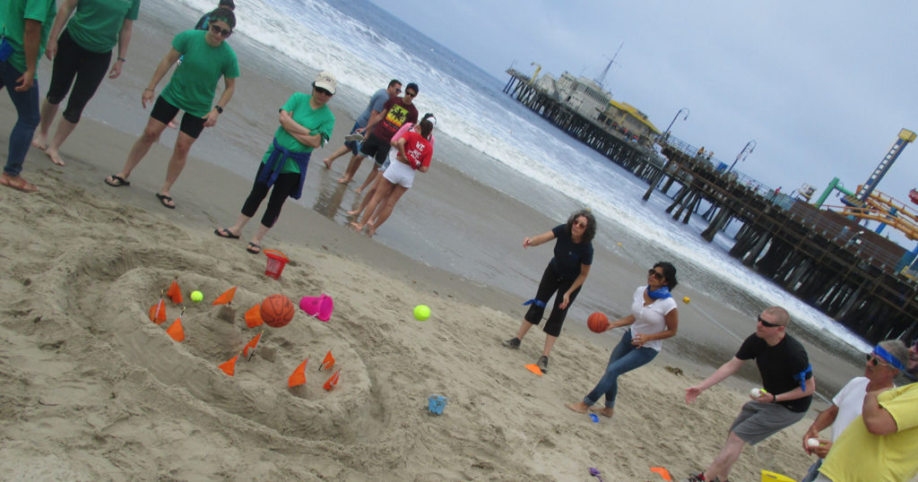 Team bonding and engagement in our beach team building program