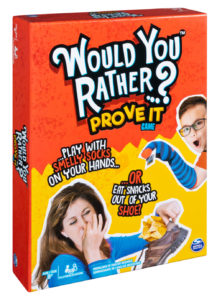 Wise Guys consults on board game content including for Spin Master's popular Would You Rather series