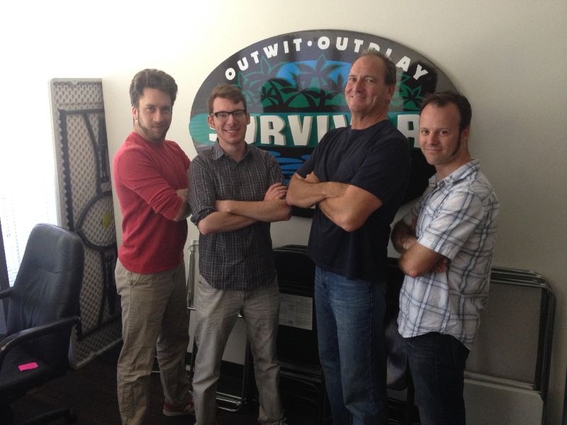 Wise Guys Events in the Survivor challenge room pitching reward and immunity challenges