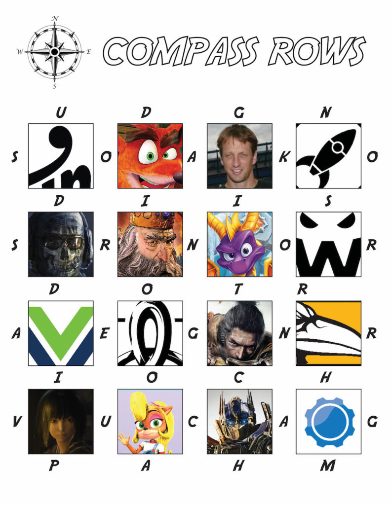 Grid of Activision Studios and Characters